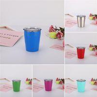 8Oz-Kaffeetasse Edelstahl Außenwasser-Flasche mit Deckeln ohne Stroh-Vakuum-Tasse doppelt ummauerte Weinglas DWA5831
