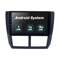 9 인치 안드로이드 10 자동차 DVD 라디오 플레이어 WiFi GPS 네비게이션으로 Subaru Forester 2008-2012 용 UDIO 스테레오 헤드 유닛
