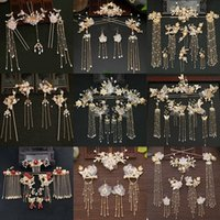 Other Event & Party Supplies Ancient Style Han Chinese Clothing Headdress Plate Hairpin Female Hair Clasp Bride Costume Wedding Accessories