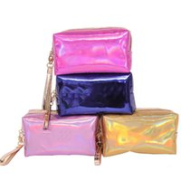 Women Fashion Cosmetic Bag Pink laser Makeup Bag Zipper Make Up Handbag Organizer Storage Case Pouches Toiletry Wash Beauty Box