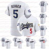 2021 Gold World Series Dodgers Mookie Betts Jersey Cody Bellinger Corey Segarder Walker Buehler Clayton Kershaw Justin Turner Julio Urias Dustin May Max Muncy