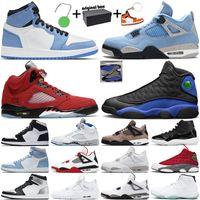 air jordan 1 4 retro 5 11 13 1 4 Баскетбольные кроссовки мужские Jumpman 1s 4s University Blue 5s Красные замшевые 11s 25th Anniversary 13s Спортивные кроссовки Hyper Royal