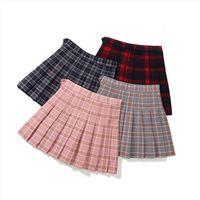 Mädchen Rosa Plaid Prinzessin Frauen Röcke Kinder Tutu Teenager Kleidung 12 14 Jahre Kinder Eine Linie Kleidung