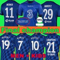 النهائيات CFC Soccer Jersey Pulisic Ziyech Havertz Kante Werner Abraham Chilwell Mount Jorginho 2021 2022 قميص Giroud Football 20 21 22 الصفحة الرئيسية Trid الرابع + أطفال