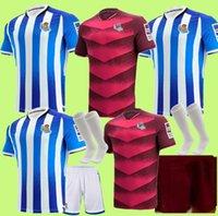 Kit Para Niños Adulto 2021 2022 King's Fincan Gerçek Sociedad Futbol Formaları Isak Willian J. Oyarzabal Agirretxe Juanmi Merino Kraliyet Topluluğu Foo