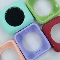 Красочный мягкий силиконовый чехол для Apple Watch Iwatch Series 1 2 3 4 Крышка Полная защита Чехол 42 мм 38 мм 40 мм 44 мм Аксессуары для ленты