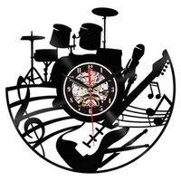 Creative Phonograph Wall Clock Music Band Individual Design Living Room Decoration Mural Quartz 12 Inches Watch G133 Clocks