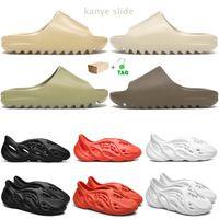 yeezy slides 2021 kanye slippers men women slides Bone Earth Brown Desert Sand Foam Runner triple white black outdoor sandals with box