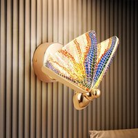 Modern Butterfly Wall lamp Minimalist luxury Staircase Bedside Bedroom Living room Background Aisle Lighting Decoration