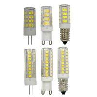 전구 고품질 3 색 온도 변화 G4G9 LED 전구 E14 램프 스마트 IC 7W 옥수수 빛 220V 52PCS SMD2835 에너지 절약