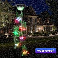 Solarlampen Kolibri Windkime Farbe wechseln LED-Zeichenfolge Lichter Outdoor-Beleuchtung Mobile Hängende Terrasse Geschenke für Mama Oma-Geburtstag