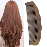 Hair Brushes Wooden Health Brush Detangle Comb Wide Tooth Anti Static Natural Sandalwood Home Tools Salon Women Long Waist