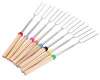 Strumenti per barbecue in acciaio inox Marshmallow Treving Sticks Extending Roaster Telescoping Ood6320