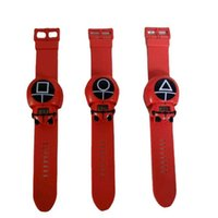 Squid game peripheral products kids cartoon electronic watch boys girls sport bracelet digital watches Cosplay props Korean scary drama wristband toys G02S2LL