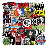 100pcs Lot Auto Retro Band Rock Sticker Music Graffiti JDM Stickers To DIY Guitar Motorcycle Laptop Luggage Skateboard Car Snowboard