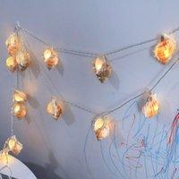 Strings Conch Lamp Stringa Ins PO POP Hawaii Decorazione del partito Ocean Breeze Beach Light A162