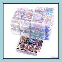 Salon Health & Beauty10 Roller Starry Sky Foils Holographic Transfer Water Decals Art Stickers 4*120Cm Diy Image Nail Tips Decorations Tools
