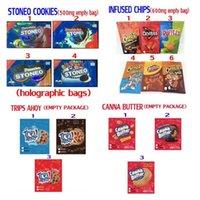 Edibles Packing-Taschen Stoneo-Kekse Gummies Infundierte Chips Gepeetos Canna Butter-Tipps Ahoyo Medizinische Süßigkeitenverpackung
