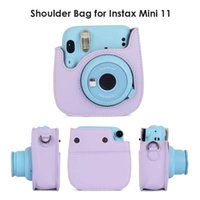 Storage Bags PU Leather Bag Protective Camera Case Cover With Adjustable Shoulder Strap For Instax Mini 11 Instant Film Accessories