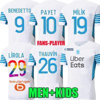Player Version 21 22 Marseille Fußball-Trikots Olympique Milik MAILLT DES FOOT OM 2021 2022 Camiseta Payet Thauvin Benedetto Männer Kinder Fußball Hemd Regenbogen Nummern