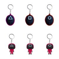 Designer keychain Brand key chain TV Squid Game Popular Toy Anime Surrounding Wooden People Pontang Acrylic