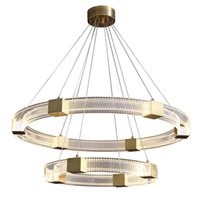 Nordic modern minimalist living room pendant lamp light luxury circle dining rooms restaurant round table designer lamps All aluminum