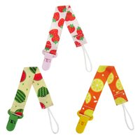 Pacifiers# 3pcs Printing Baby Pacifier Strap Clip Chain Soother Teething Toy Band Holder For Toddlers (Strawberrie