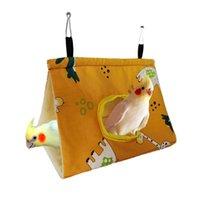 Клетки для птиц ПЭТ попугай зимний теплый гнездо Дом висит гамак сарая спальная кровать кровати кроватка кроватка кровати шатерская пещера