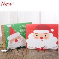 Weihnachtsabend Große Geschenkbox Santa Claus Fairy Design Kraft Papercard Geschenk Party Favor Aktivitäten Activity Box Red Green Gifts Paket Boxen DHL