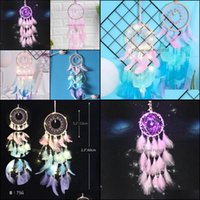 Decorative Objects Figurines Aents Décor Home & Gardenromantic Led Light Dromenvanger Dreamcatcher Wind Chimes Wall Hanging Gift Party Handm