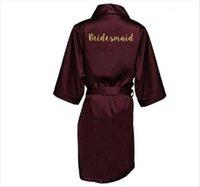 Sexy Plus Size Wind Red Women Sleepwear Silk Satin Kimono Robe Wedding Bridesmaid Sister Mother Bride Robes Dressing Gown For