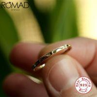 Romad Dainty Sun Signet Vintage 925 Стерлинговые серебряные кольца для женщин Женские Свадебные Ювелирные Изделия Нежное обещание Обручальное кольцо