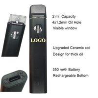 Delta 8 Disposable vapes Starter Kit E cigarettes Device 2ml Capacity Empty Pods Rechargable Vape Pen 350mAh Battery For thick oil