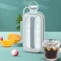 Baking Moulds Portable 2 In 1 Ice Ball Maker Creative Bottle Cubic Container Cube Round Tray Mold DIY Iattice Kettle Bar Kitchen Tool