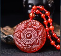 Natural chalcedony dragon phoenix gossip good luck pendant free delivery