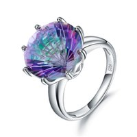 S925 silver Band Rings customizable gemstone wedding-ring ladies high-end Inlaid with colorful natural stone crystals fashion Retro palace version designer ring