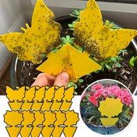 Pest Controllo Sticky Yellow Quadrato Carta quadrato a doppia facciata Insetto Adesivo Verdure Fruit Plant Mosquito Blot Trappola