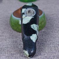 Tubo di cristallo rotondo della pietra della pietra del fiore della prugna naturale con il tubo di cristallo del prisma esagonale del foro vendite dirette della fabbrica della fabbrica della fabbrica