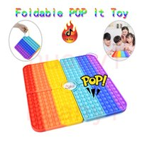 Factory Direct Sale Foldable Pop Chess Board Toy Portable Silicone Stress Release Tool with Dice Big Size Family Party Entertainment Game