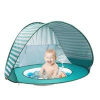 텐트와 피난처 휴대용 해변 텐트 - 샘 여름 바다 태양 정원 야외 캠핑 바베큐 방수 아기 불가사비