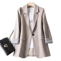 Blazer feminino anzug französische jacke weiblich frühling und herbst lose lässig hemd kleine frau kleidung frauen anzüge blazer