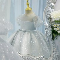 Girl's Dresses Princess 1st Birthday Party Baby Girls Dress Wedding Kids For Sequins Tulle Baptism Christening Ball Gown