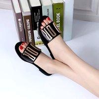 2021 A12 Designer Mulheres Sandálias Senhoras Luxo Genuíno Chinelos de Couro Plano Sapato Oran Sandália Party Sapatos de Casamento com Caixa Tamanho 35-42