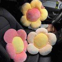 Pillow Cartoon Cute Car Headrests Pillows Lumbar Cushion Seat Belt Auto Steering Wheel Cover Accessories Gift For Women Man