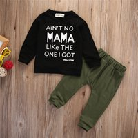 Newborn Toddler Kids Baby Boy Clothes Sets Casual Letter Printing Autumn Winter Outwear Tracksuit T-shirt Top+Pant Outfits A3833