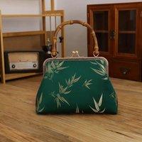 Bambu Designer Bloqueio De Shell Sacos Vintage Puro Handmade Bag Chain Mulheres Ombro Crossbody Chic Lady Handsbags