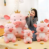 Cartoon crown Angel Pig Plush Toy fat pig doll cute sleeping pillow lovely gift 92WT