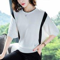 Women's T-Shirt Shintimes chess t-shirt of striped women tshirt knitted cotton Korean T-shirt woman clothes femme shirt mujer ZAW0