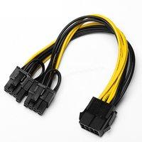 PCIE 8 PIN DO DUAL 8 (6 + 2) PIN Grafika Karta wideo Kabel zasilający GPU, Adapter Zasilacz PCie Kabel przedłużacza