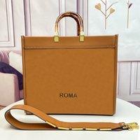 Venda por atacado designer de luxo bolsa bolsa de ombro de alta qualidade saco de compras de couro âmbar alavango duplo grande capacidade carta decorativa tote saco